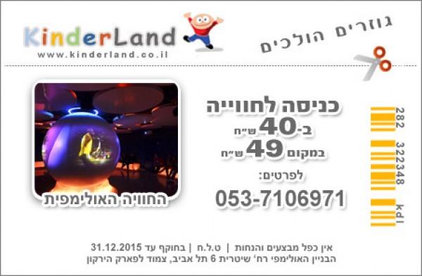 קופון לאטרקציות בתל אביב, קופונים לילדים, קופונים והנחות לילדים